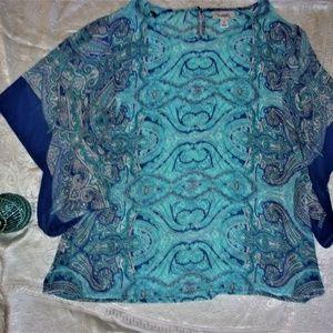 medium summer boho blue top blouse dress casual